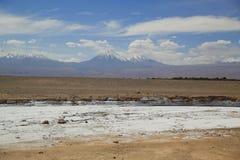 Moon Valley or Valle de la Luna Landscape in Atacama Desert Stock Photo