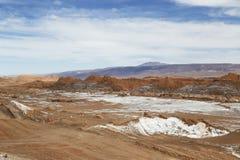 Moon Valley or Valle de la Luna Landscape in Atacama Desert Royalty Free Stock Photography