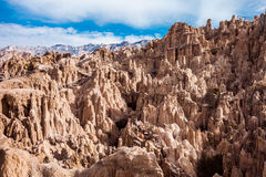 Moon Valley. (Valle de la Luna) is situated about 10 kilometers from La Paz, Bolivia Royalty Free Stock Images