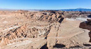 Moon Valley View in the Atacama Desert, Chile Stock Photography
