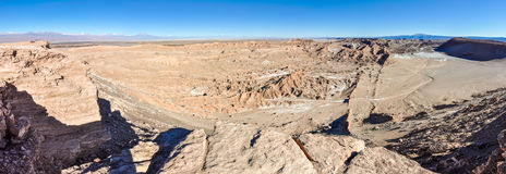 Moon Valley View in the Atacama Desert, Chile Royalty Free Stock Photo