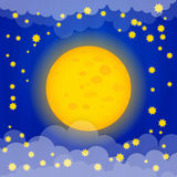 Moon vector illustration Royalty Free Stock Images