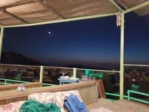 Moon venus from balcony royalty free stock photography