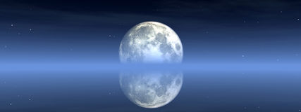 Moon View 2. This is the moon in the nighttime sky Stock Photography