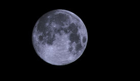 Moon View. A view of a full moon on a clear night in England stock illustration