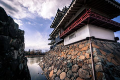 Moon Viewing Room at Matsumoto Castle. Matsumoto, Japan - March 06, 2015: Outside of the moon viewing room at Matsumoto Castle Stock Photography