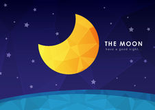 The moon wallpaper with a pixel diamond texture. Background design Royalty Free Stock Image