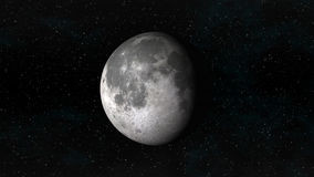 Moon in waning gibbous phase on a background of stars Stock Images