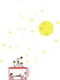 Moon watching-1 Arkivbild