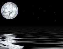 Moon and water Stock Photos