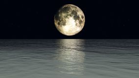 Moon Water Stock Photography