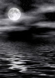 Moon on water Stock Images