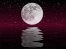 Moon and water Stock Images