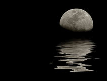 Moon water reflections Stock Photography