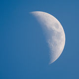 Moon - Waxing Crescent Royalty Free Stock Photography