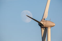 Moon whit windmill Royalty Free Stock Photography