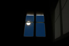 Moon at the window Royalty Free Stock Photography