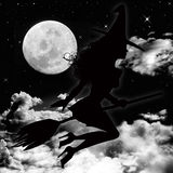 Moon and witch Royalty Free Stock Photography