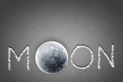 Moon word Stock Photos