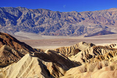 Moon Zabriskie Point Death Valley National Park Royalty Free Stock Images