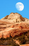 Moon Zion Park Stock Photos