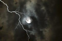 Moon2 orageux Photos libres de droits