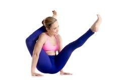 Moonbird yoga Pose Royalty Free Stock Images