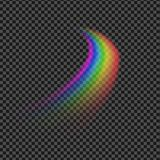 Moonbow line illustration Royalty Free Stock Images