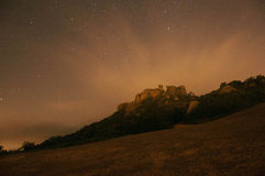 Moonburst και καυτό Nightsky Στοκ Εικόνες