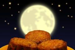 Mooncake, китайский Стоковые Изображения