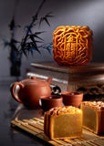 Mooncake Royaltyfria Bilder