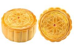 Mooncake chinês com trajeto de grampeamento imagens de stock