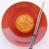 Mooncake. Chinese mid autumn festival food Royalty Free Stock Photography