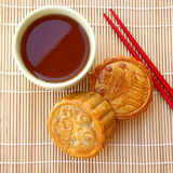 Mooncake. Chinese mid autumn festival food Stock Photos