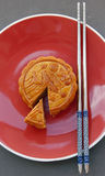 Mooncake. Chinese mid autumn festival food Royalty Free Stock Photo