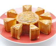 Mooncake. Chinese mid autumn festival food Stock Images
