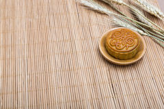 Mooncake, Chinese Midautumn festival dessert with copyspace Stock Photography