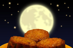 Mooncake, chinois Images stock