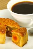 Mooncake and coffee Royalty Free Stock Photography