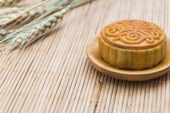 Mooncake, dessert de festival de Midautumn de Chinois avec le copyspace Photographie stock