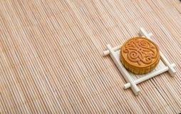 Mooncake, dessert de festival de Midautumn de Chinois avec le copyspace Photographie stock libre de droits