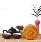 Mooncake Festival. Mooncake, Chinese mid autumn festival food on White Background. Dessert Concept Stock Photography