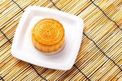 Mooncake i herbata, Chiński w połowie jesień festiwalu jedzenie obraz stock