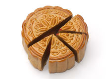 Mooncake isolated Stock Photo