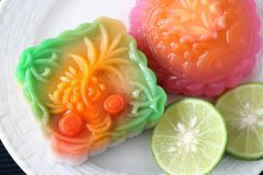Mooncake jelly Stock Image