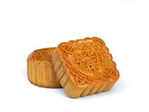 Mooncake - mid autumn festival. Rectangular shape moon cake for mid autumn festival Stock Photo