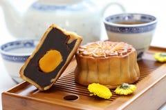 Mooncake, Mondkuchen Stockfotos
