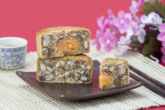Mooncake slice ,chinese traditional bakery Stock Photography