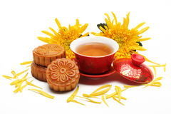 Mooncake and Tea Royalty Free Stock Images