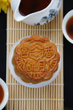 Mooncake and tea. Royalty Free Stock Image